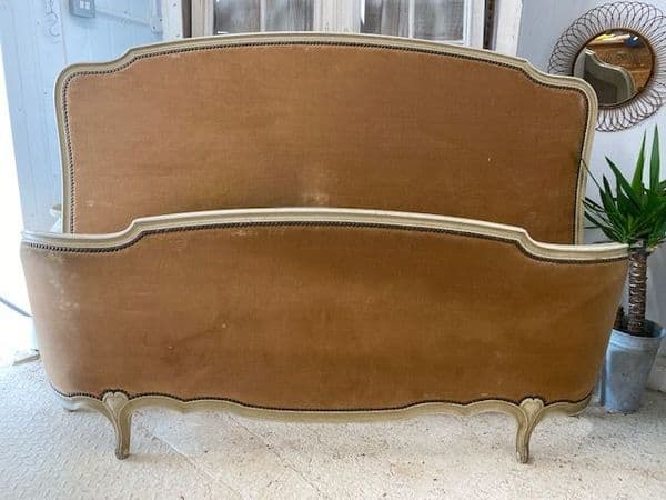 SOLD - Impressive King Size Antique French Bed - 160cm wide - dc86